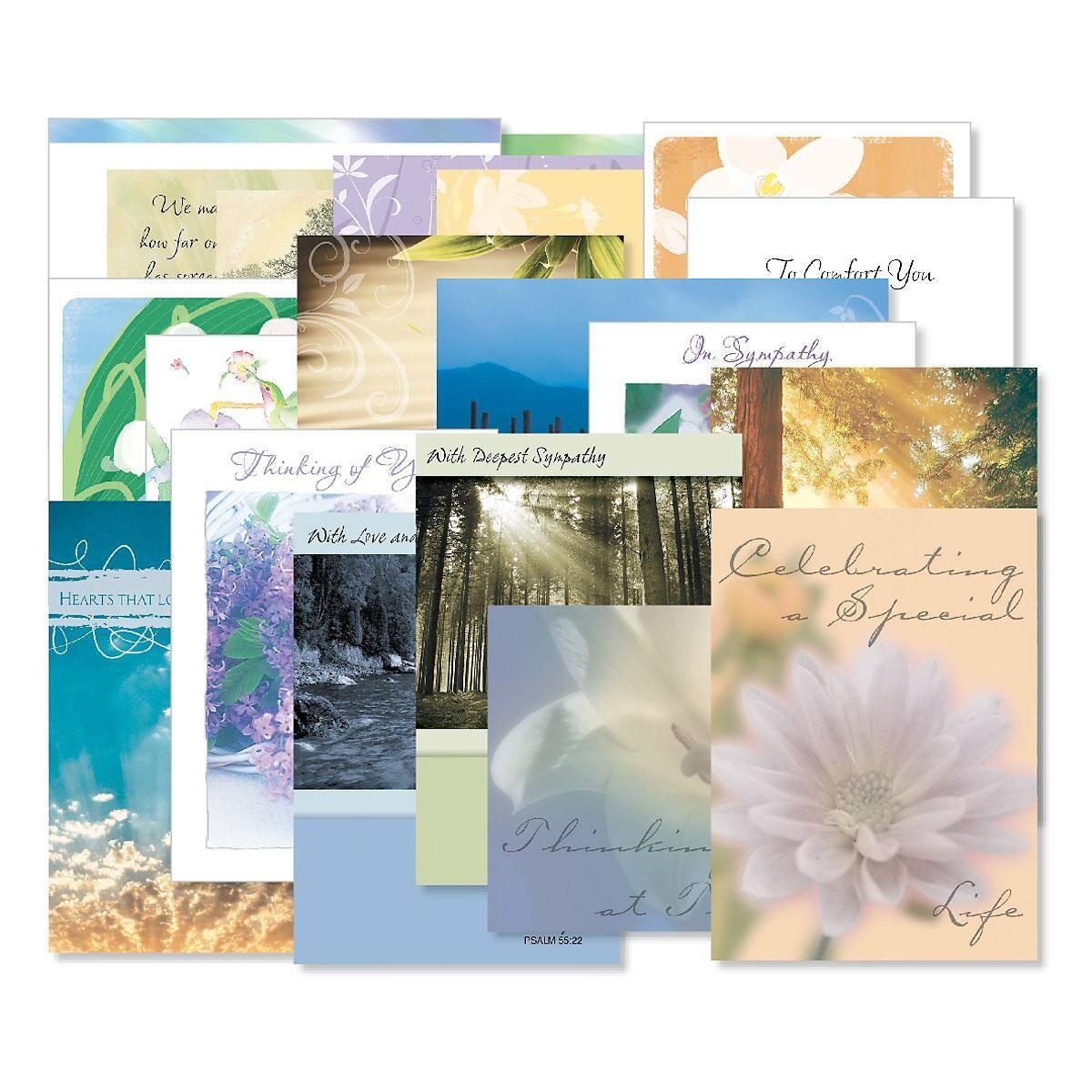 Mega Sympathy Cards Value Pack - Set of 40