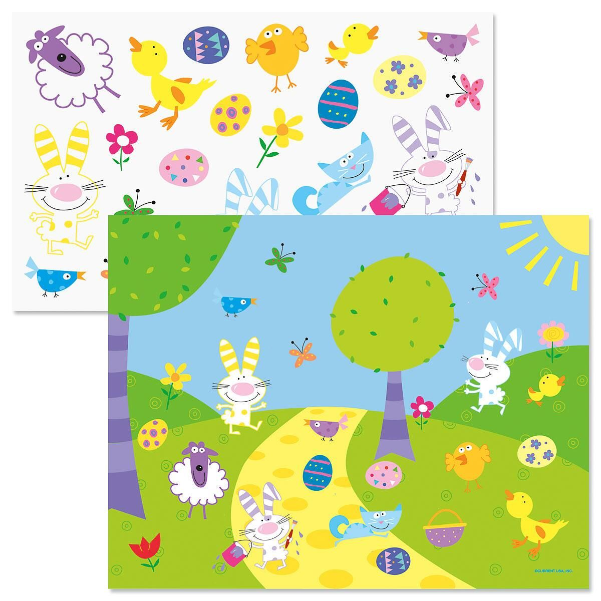 Easter Scenes with Stickers