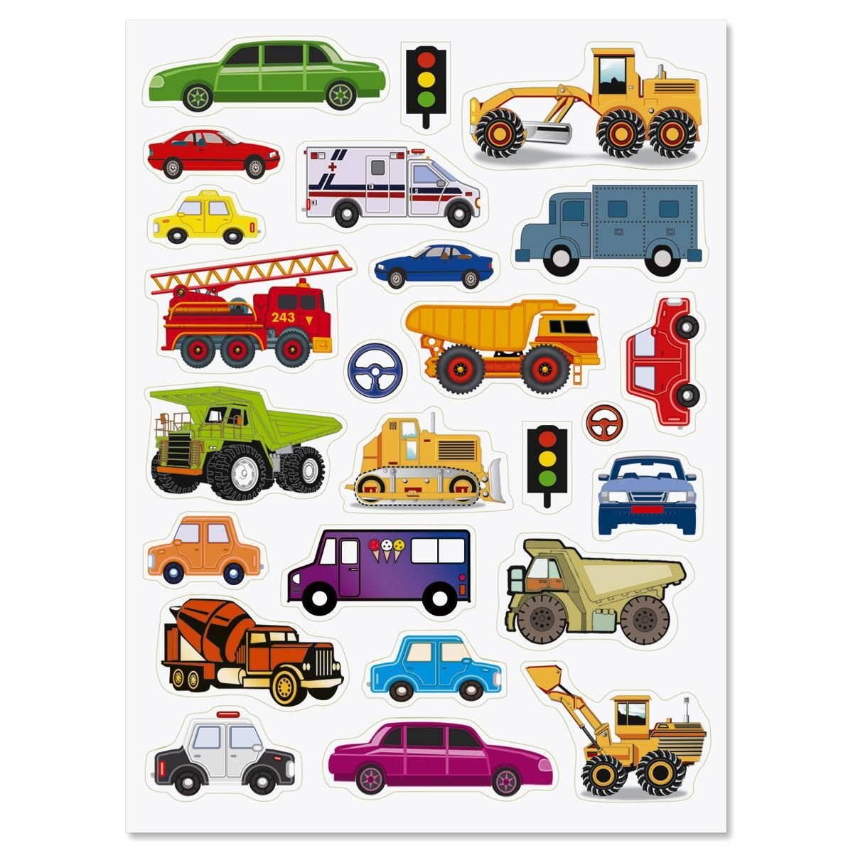 Cars and Trucks Stickers