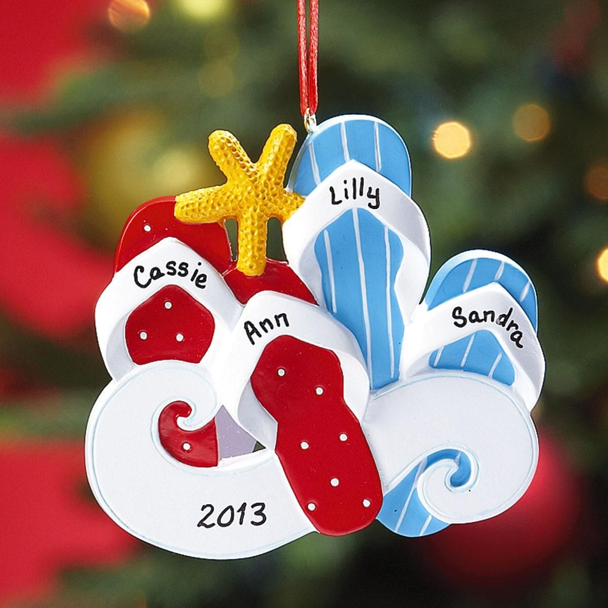 Flip-Flop Ornament - 1 Pair