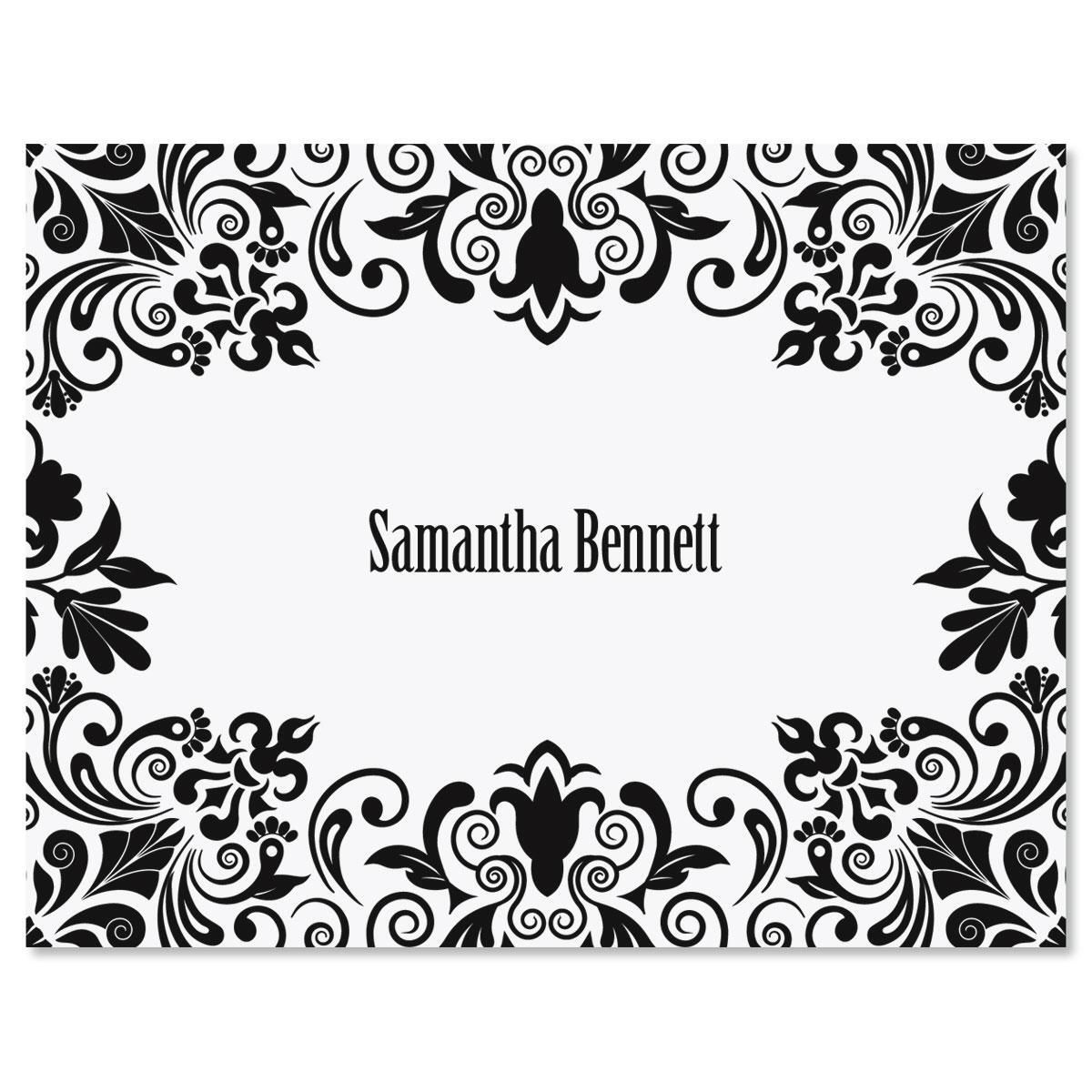 Damask Note Cards