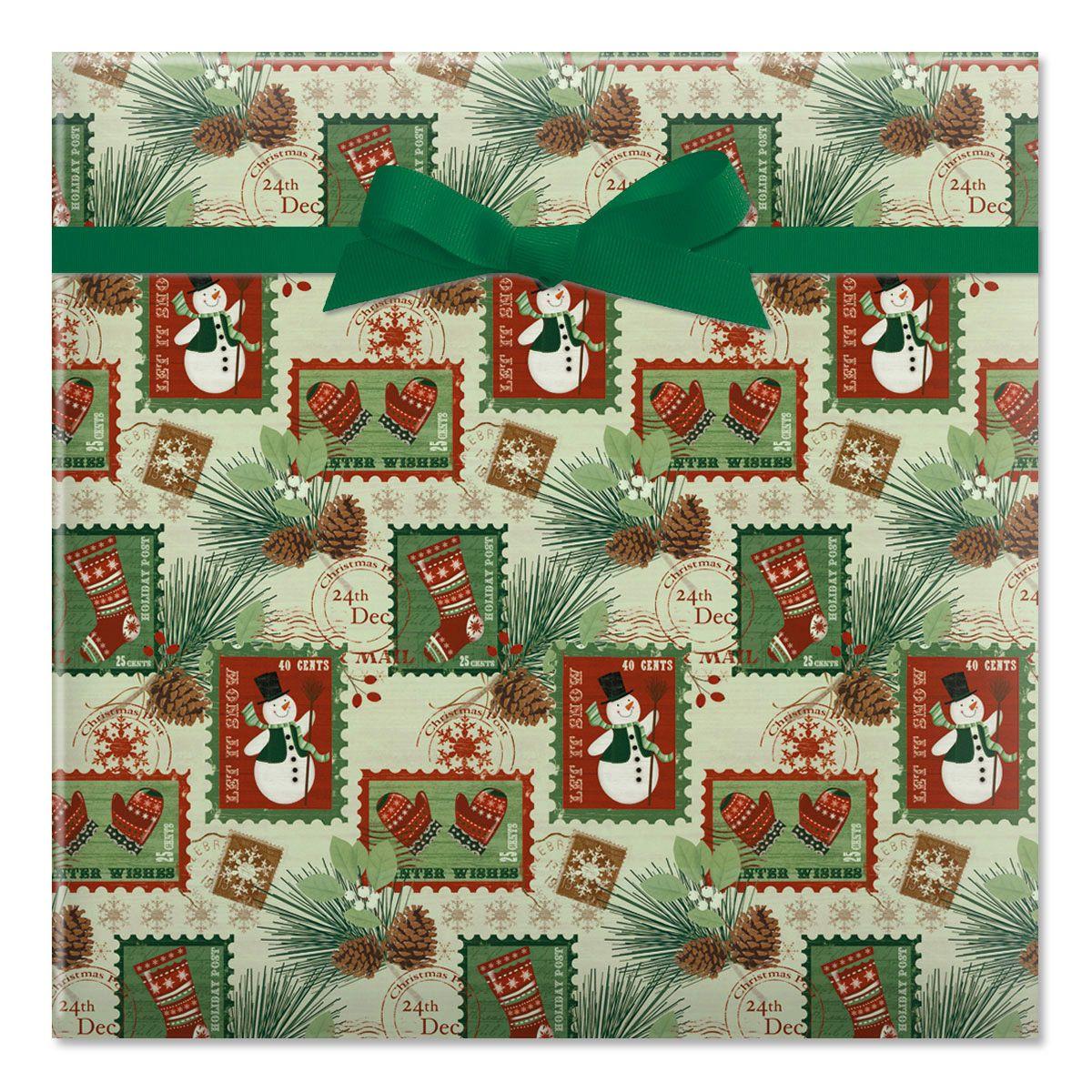 Woodland Cottage Jumbo Rolled Gift Wrap