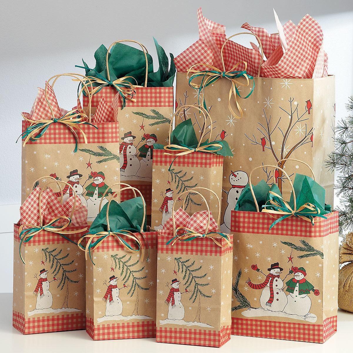 Snowman Gift Bag Set