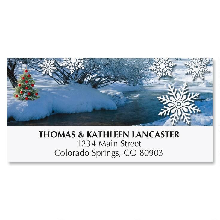 Winter Stream Address Labels