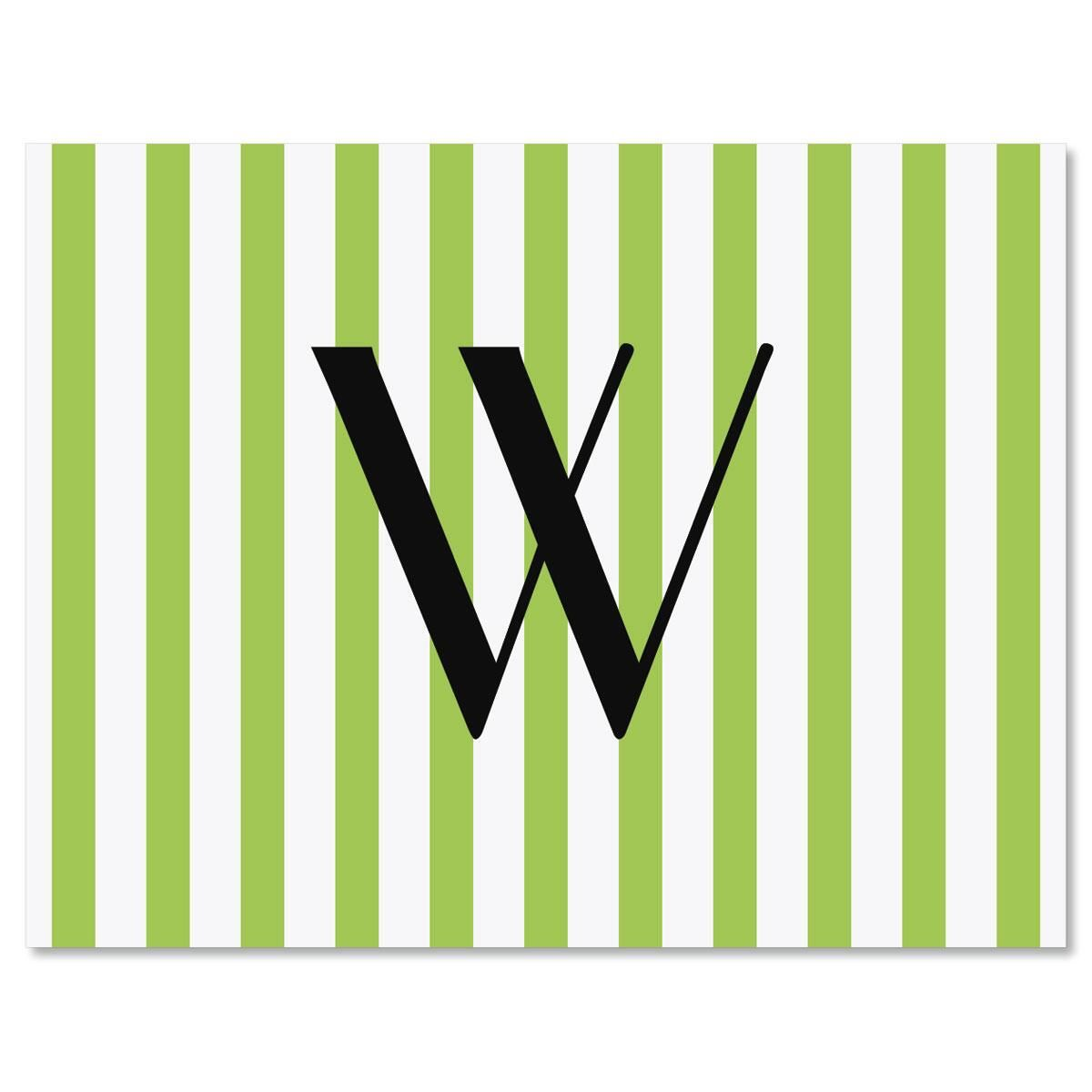 Stripes Initial Personalized Note Cards