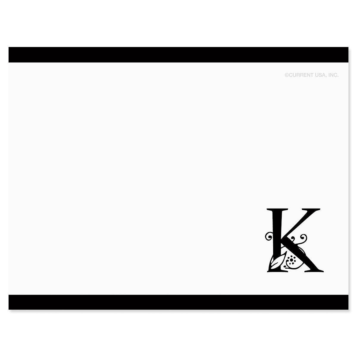 Formal Initial Correspondence Card