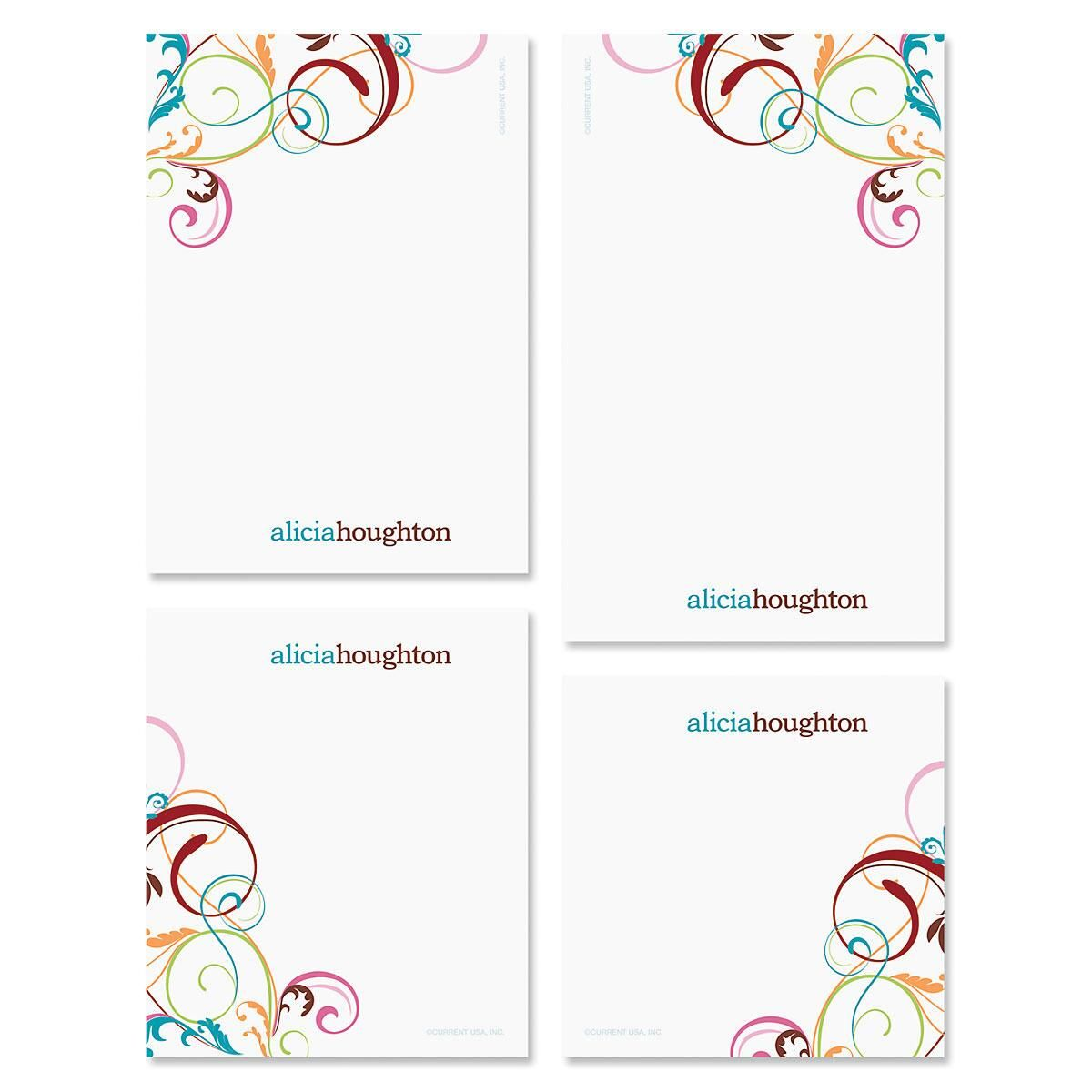 Fantasia Personalized Notepad Set