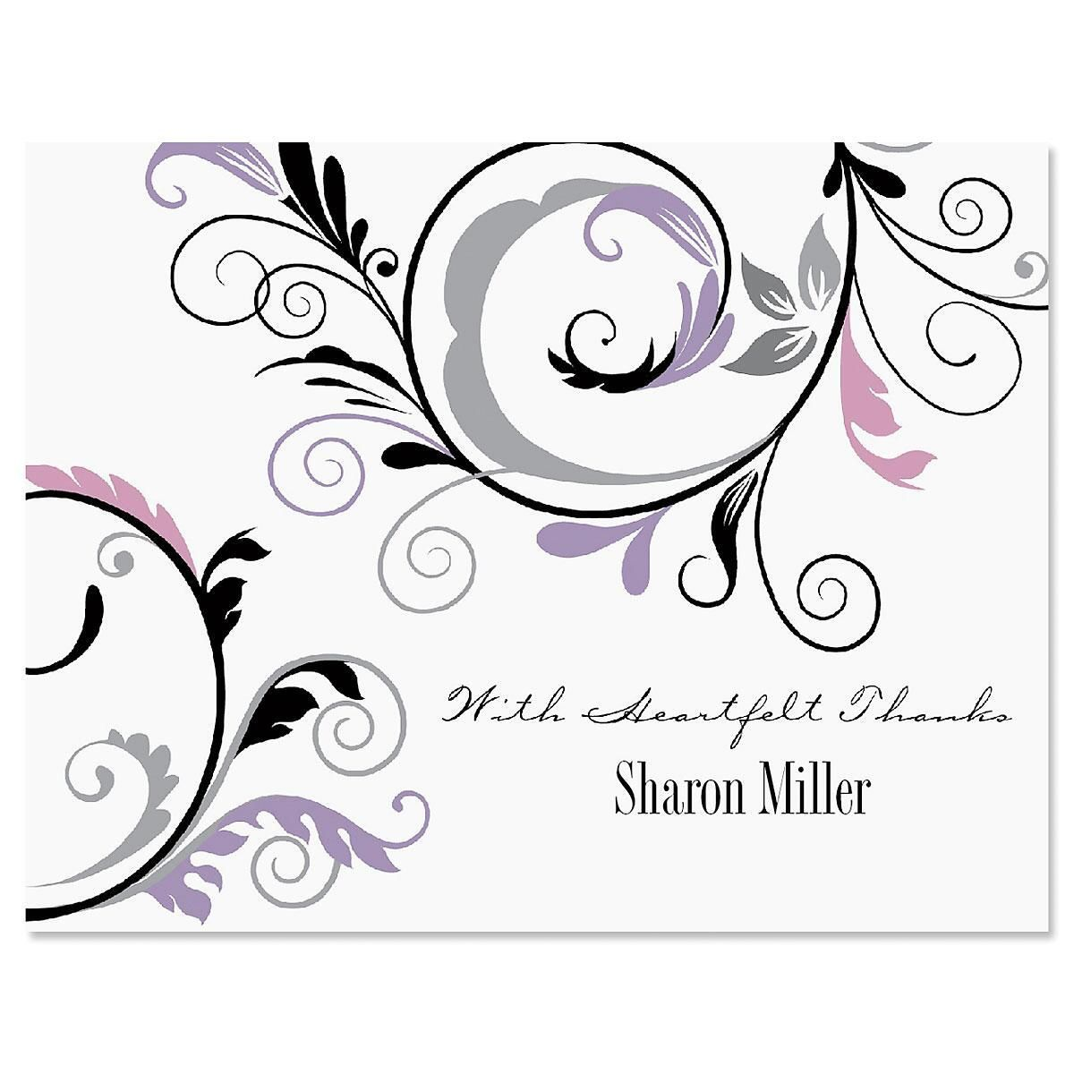Black & Grey Fantasy Thank You Card