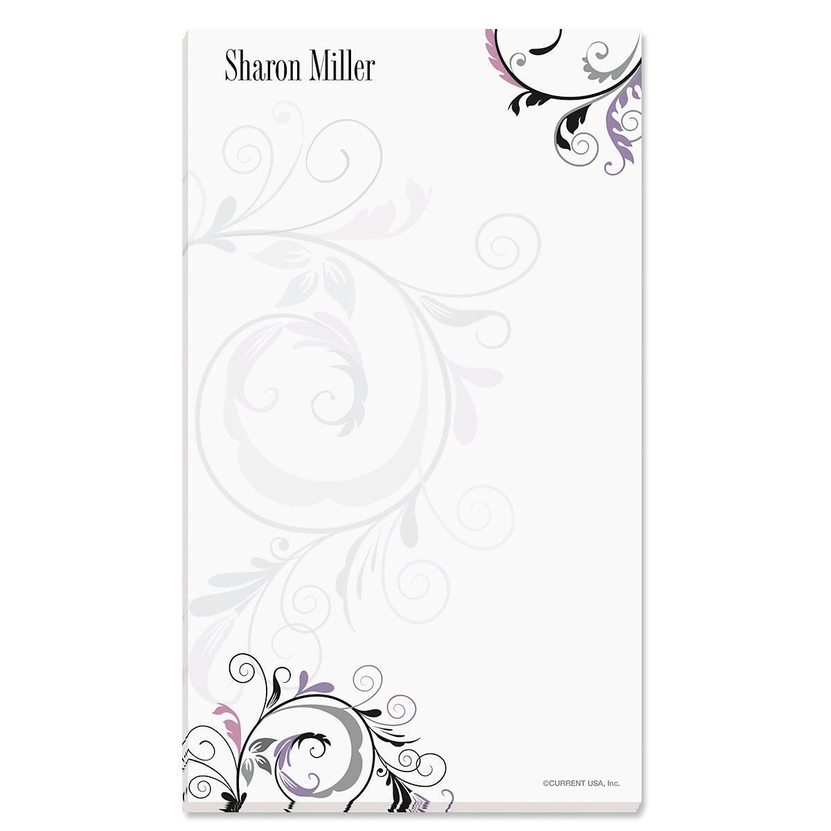 Black & Grey Fantasy Notepad