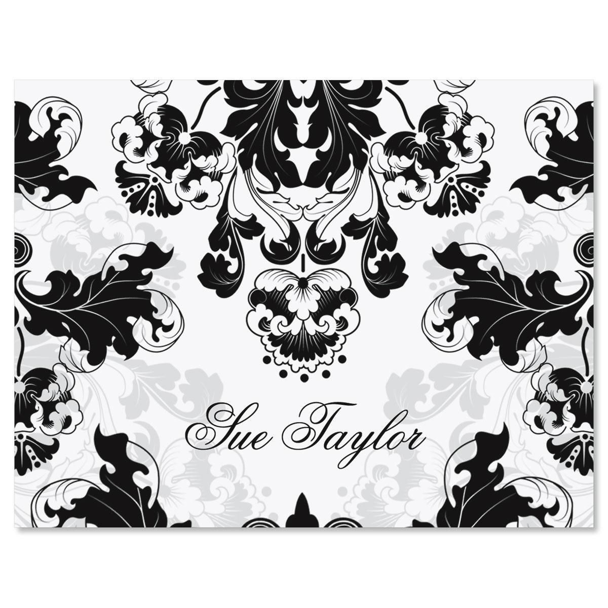 Rococo Personalized Note Cards