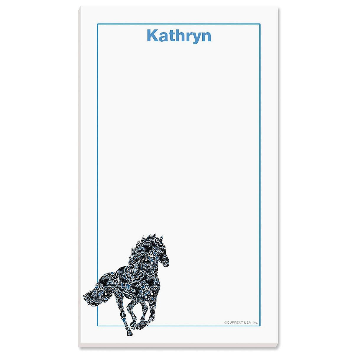 Horse Patterns Notepad