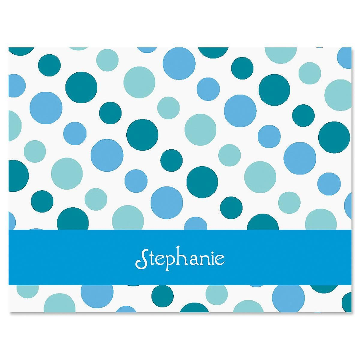 Zippy Dots Personalized Note Cards