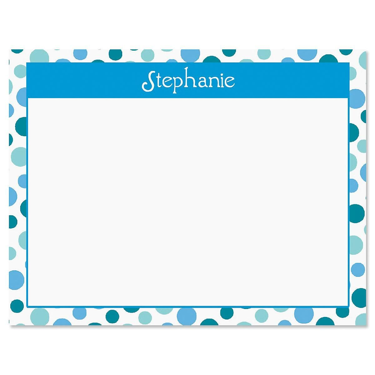 Zippy Dots Correspondence Card