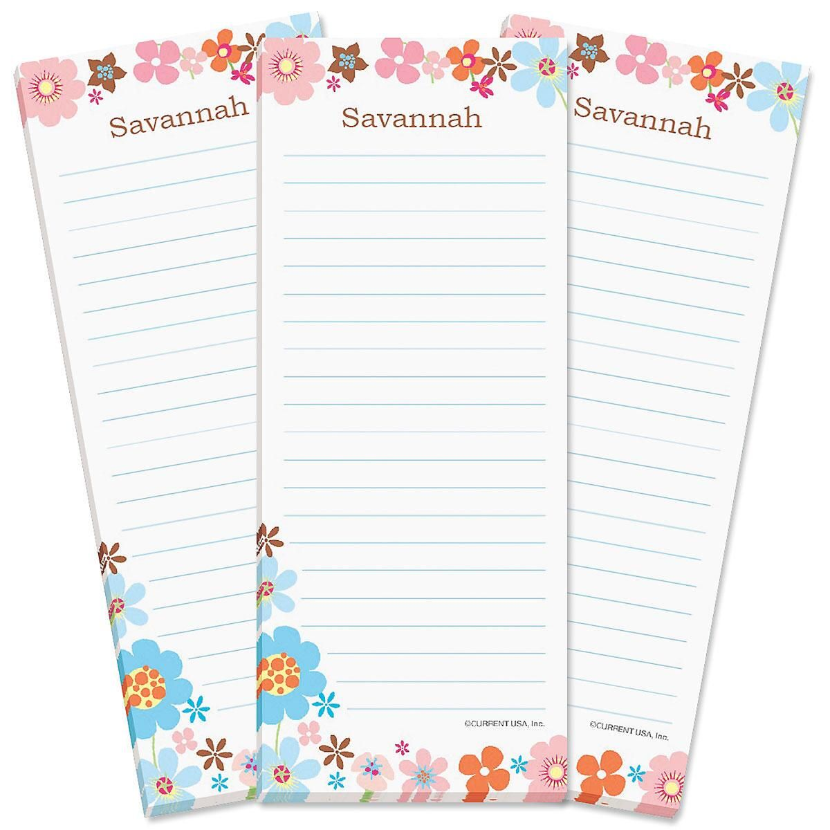 Sprightly Lined Shopping List Pads