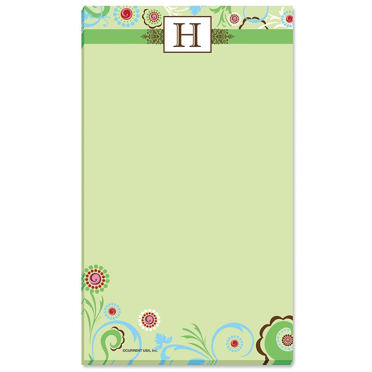 Fanciful Initial Notepad