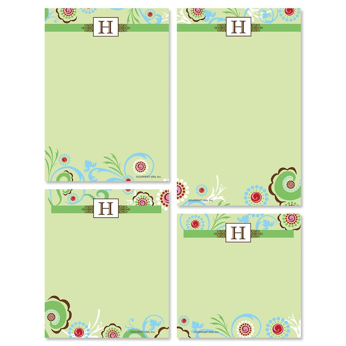 Fanciful Initial Notepad Set