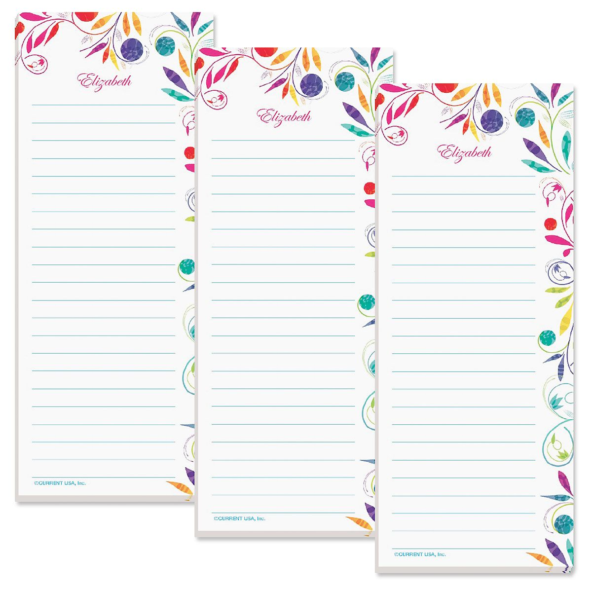 Color Swirl Lined Shopping List Pads