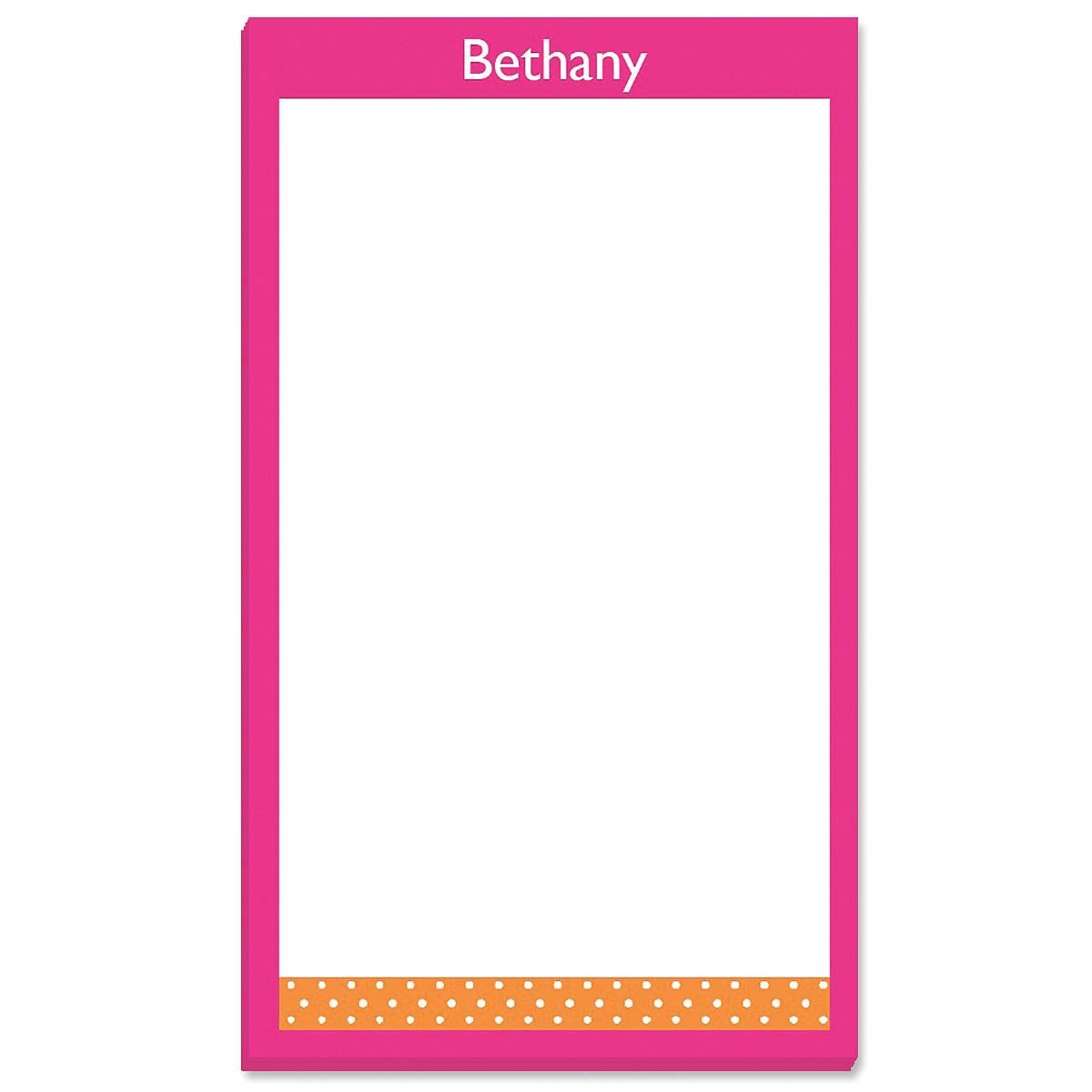 Zesty Dots Personalized Notepads