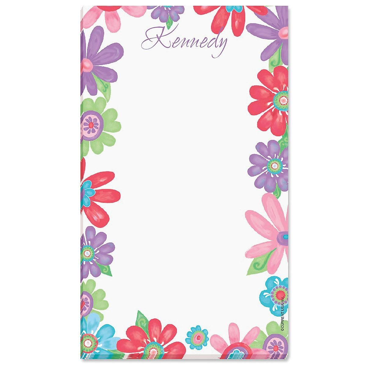 Blossom Personalized Notepads