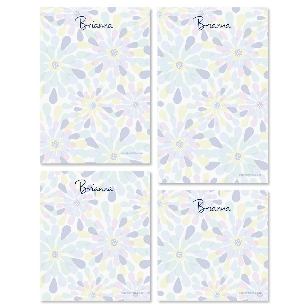 Fresh Blooms Personalized Notepad Set