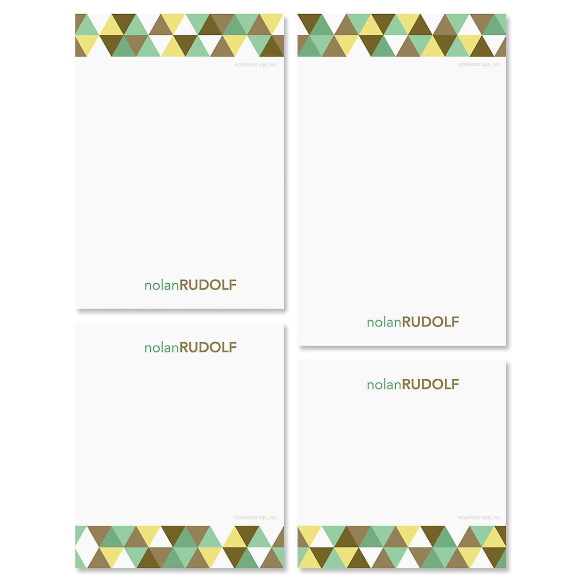 Triangulate Personalized Notepad Set