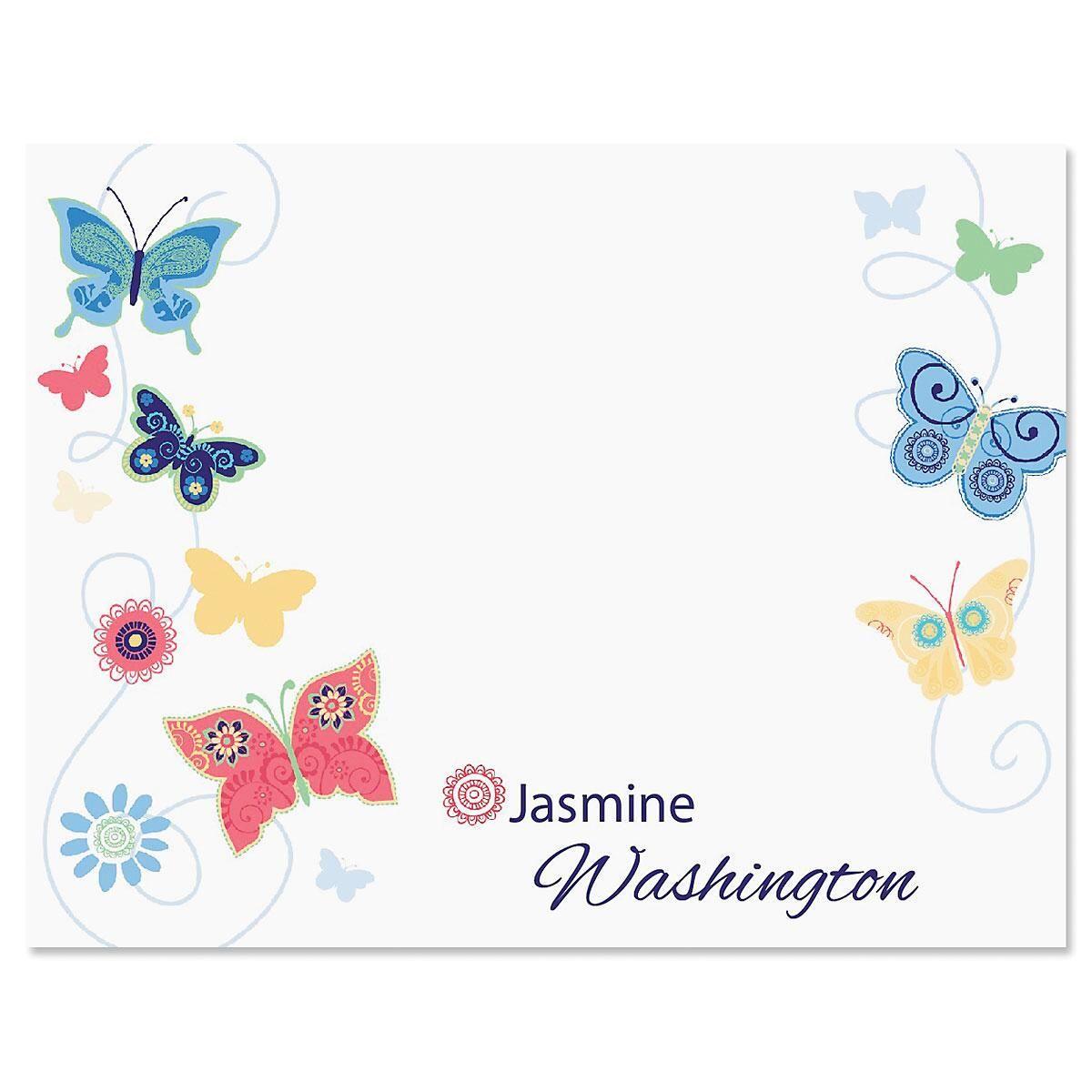 Delicate Butterflies Correspondence Card