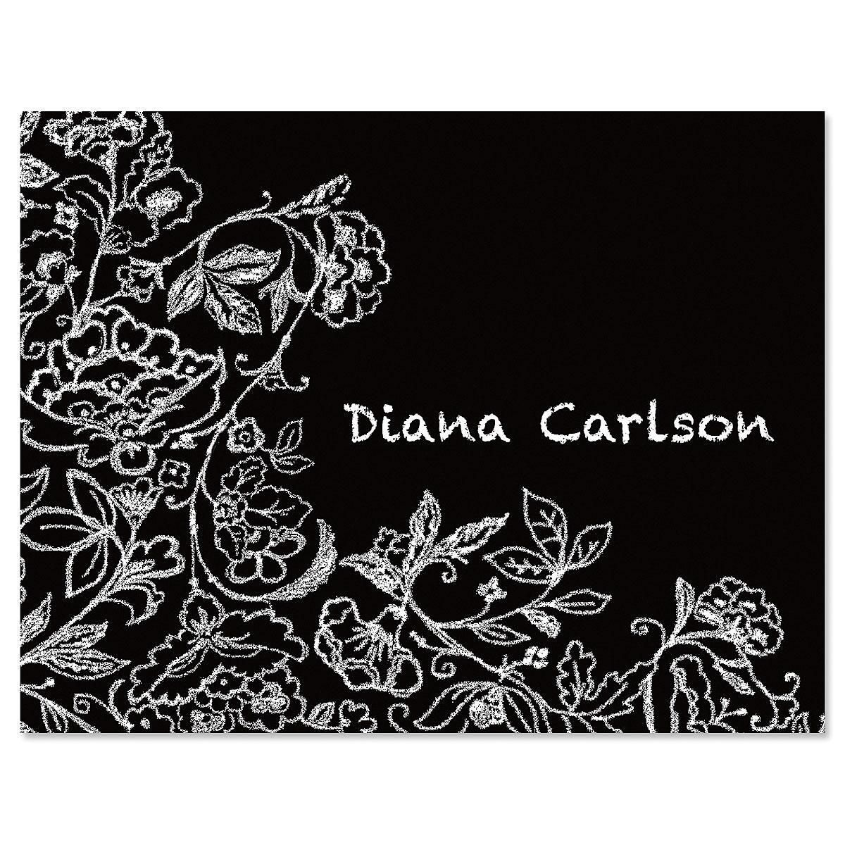 Blackboard Personalized Note Card