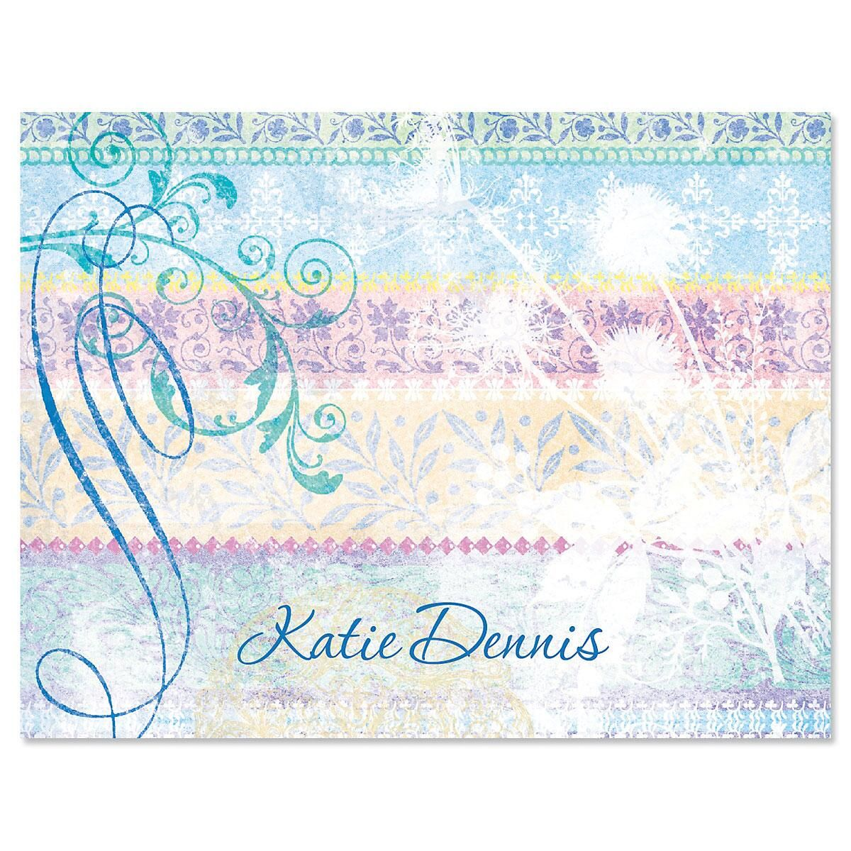 Mixed Blossoms Note Card