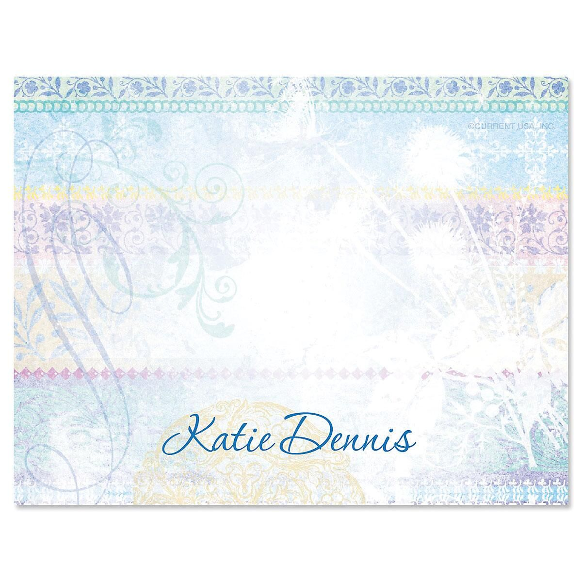 Mixed Blossoms Correspondence Card