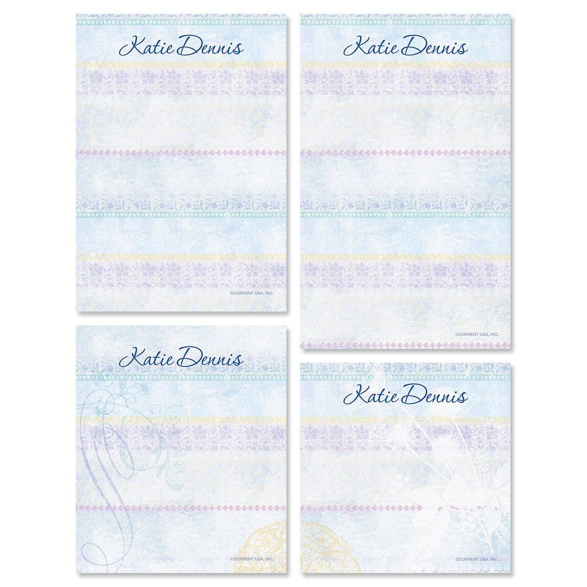 Mixed Blossoms Personalized Notepad Set