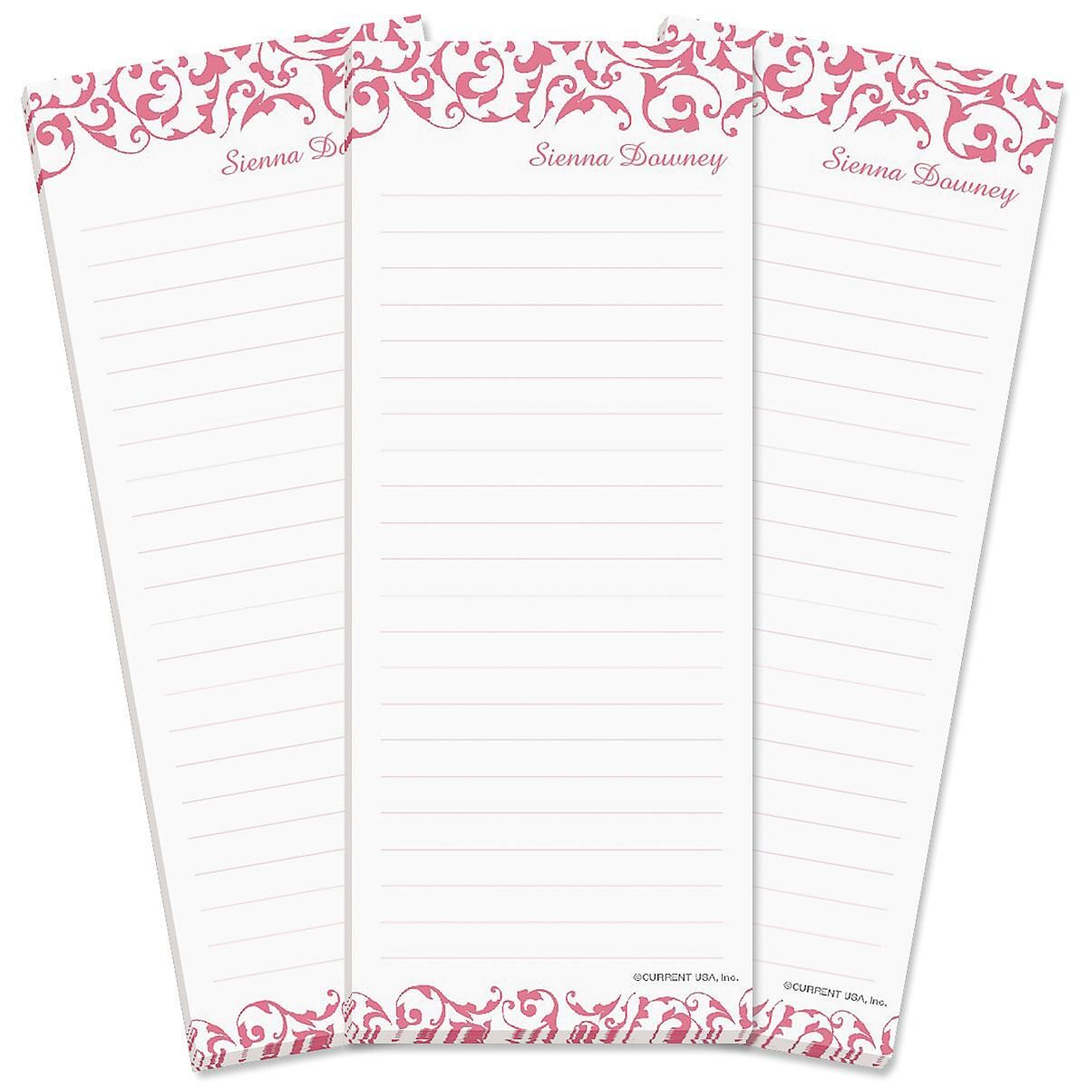 Twist Lined Shopping List Pads