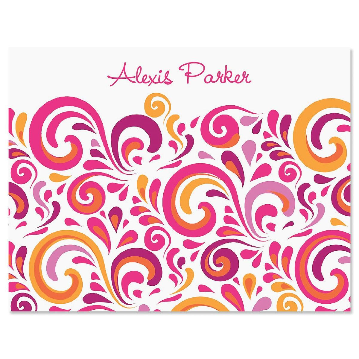 Splash Personalized Note Cards