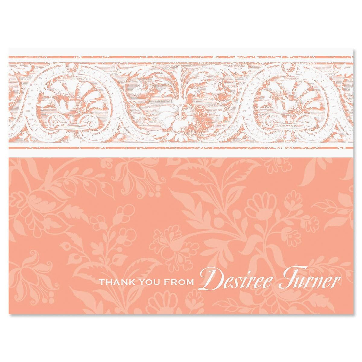 Elegant Border Personalized Thank you Cards