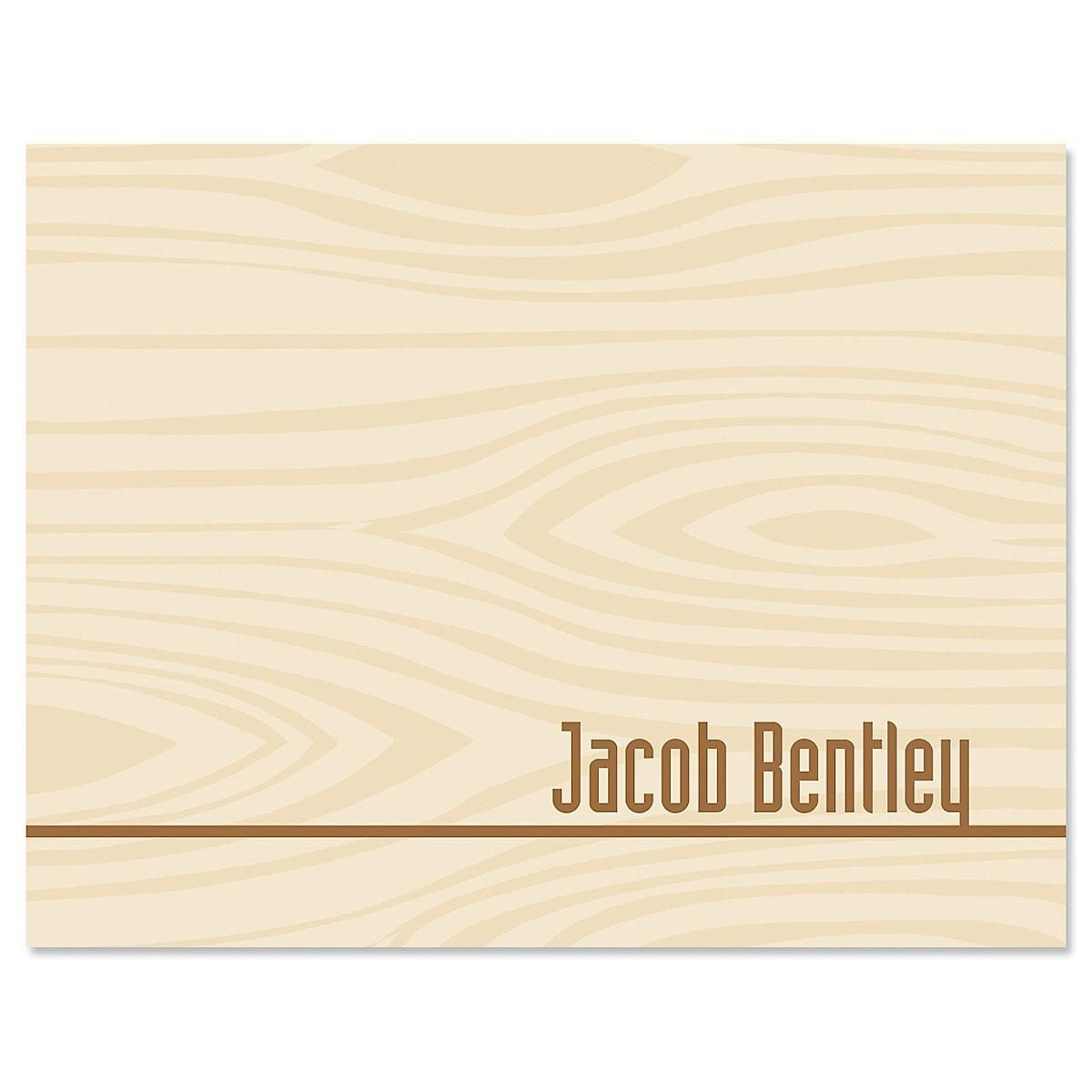 Woodgrain Note Card