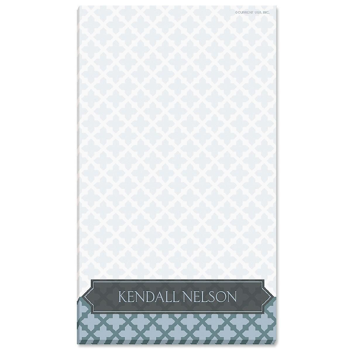 Quatrefoil Personalized Notepads