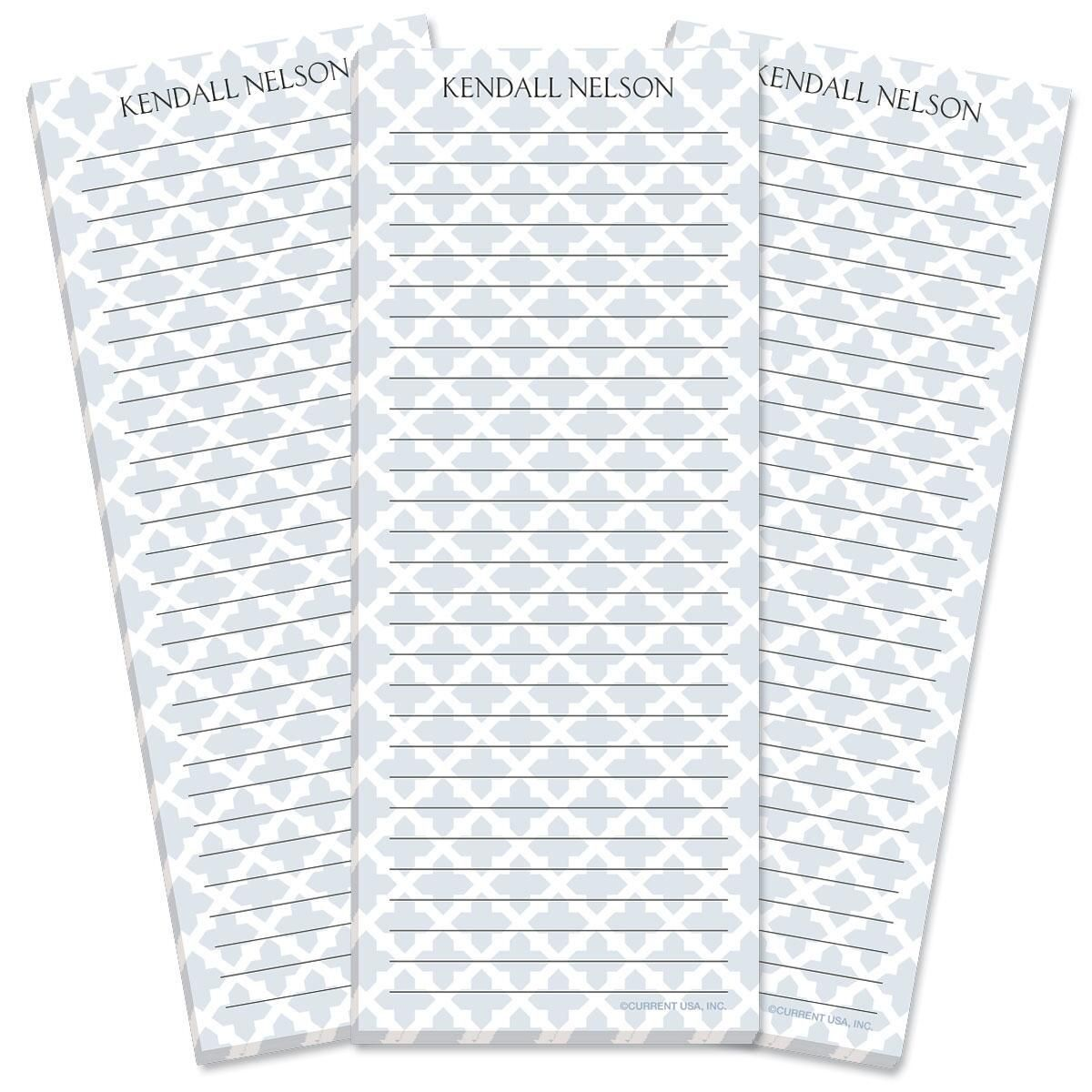 Quatrefoil Lined Shopping List Pads