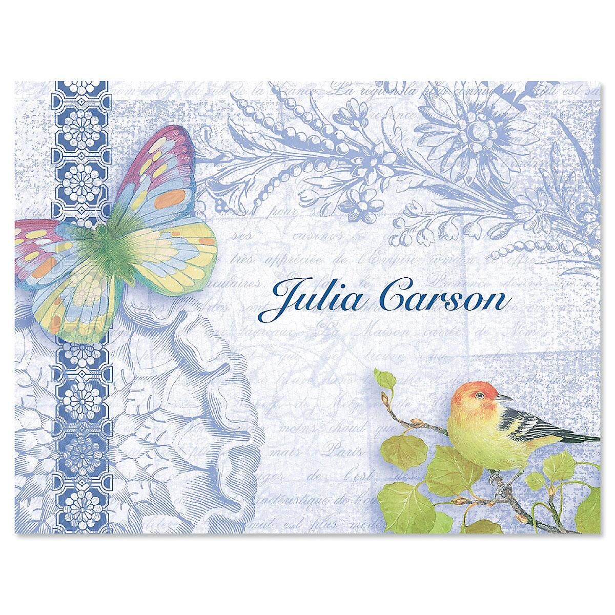 Exotic Prints Personalized Note Card