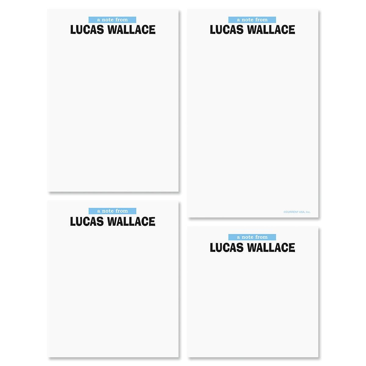 Shout Out Personalized Notepad Set