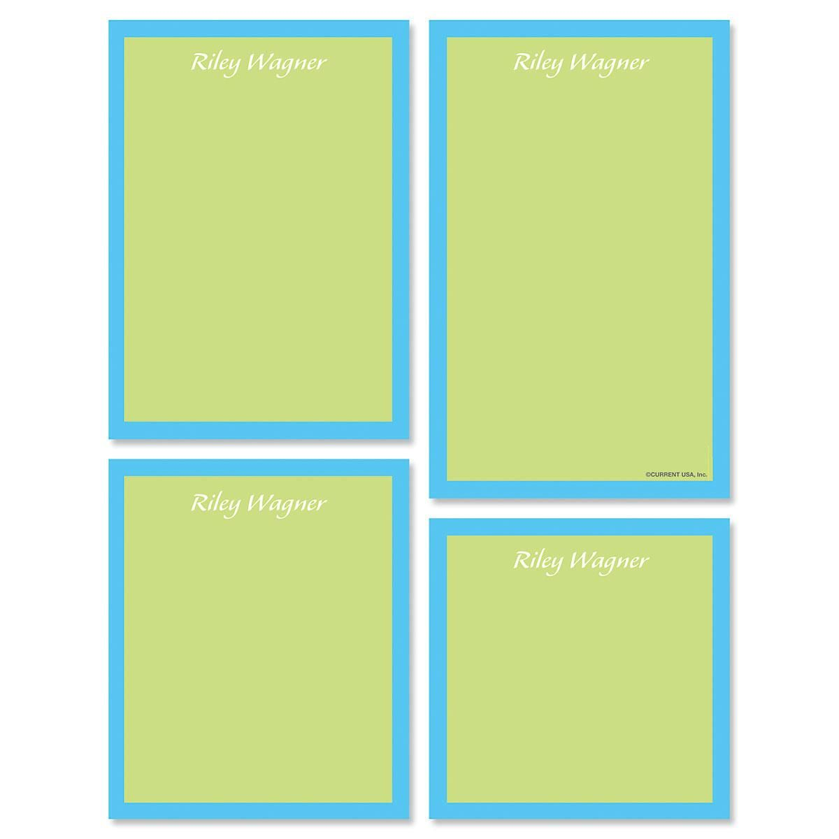 Bordered Hues Personalized Notepad Set