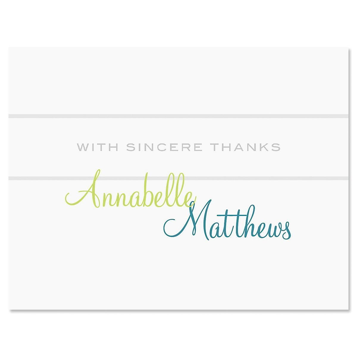 Annabelle Personalized Thank You Cards