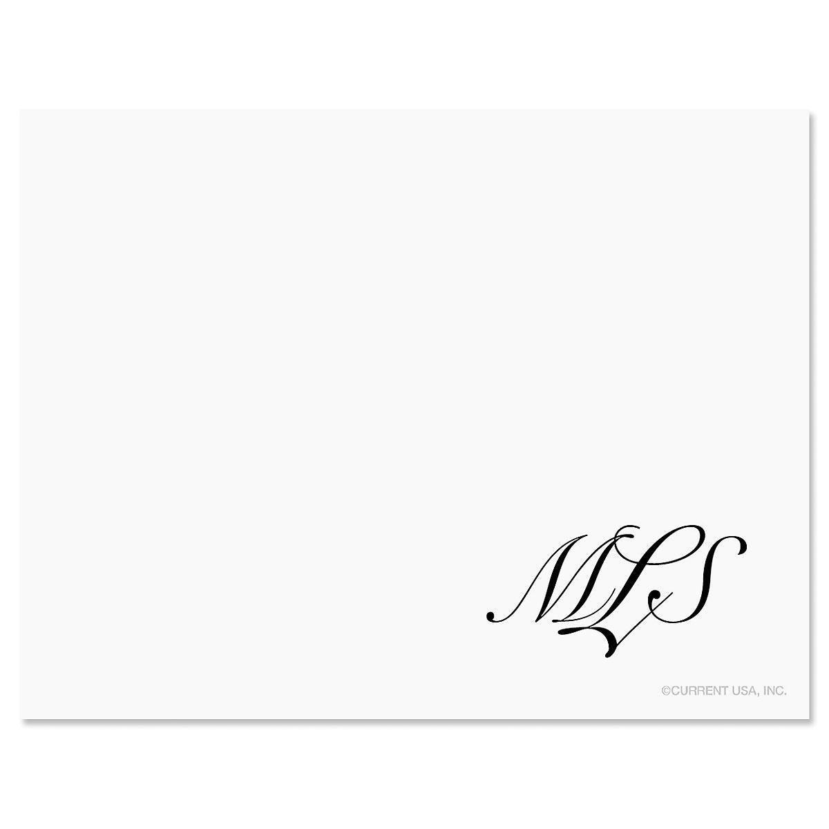 Elegant Monogram Correspondence Cards