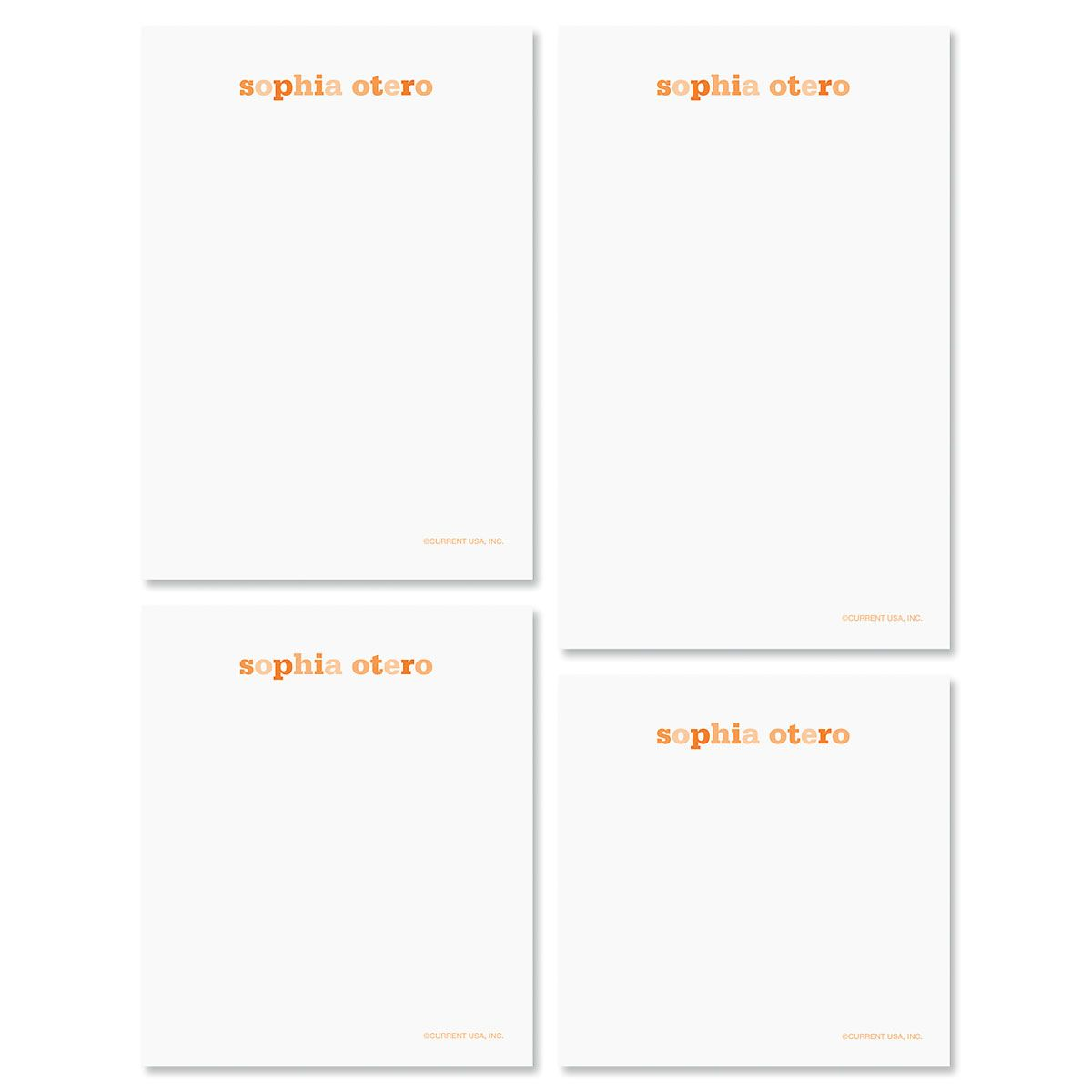 Color Wash Personalized Notepad Set