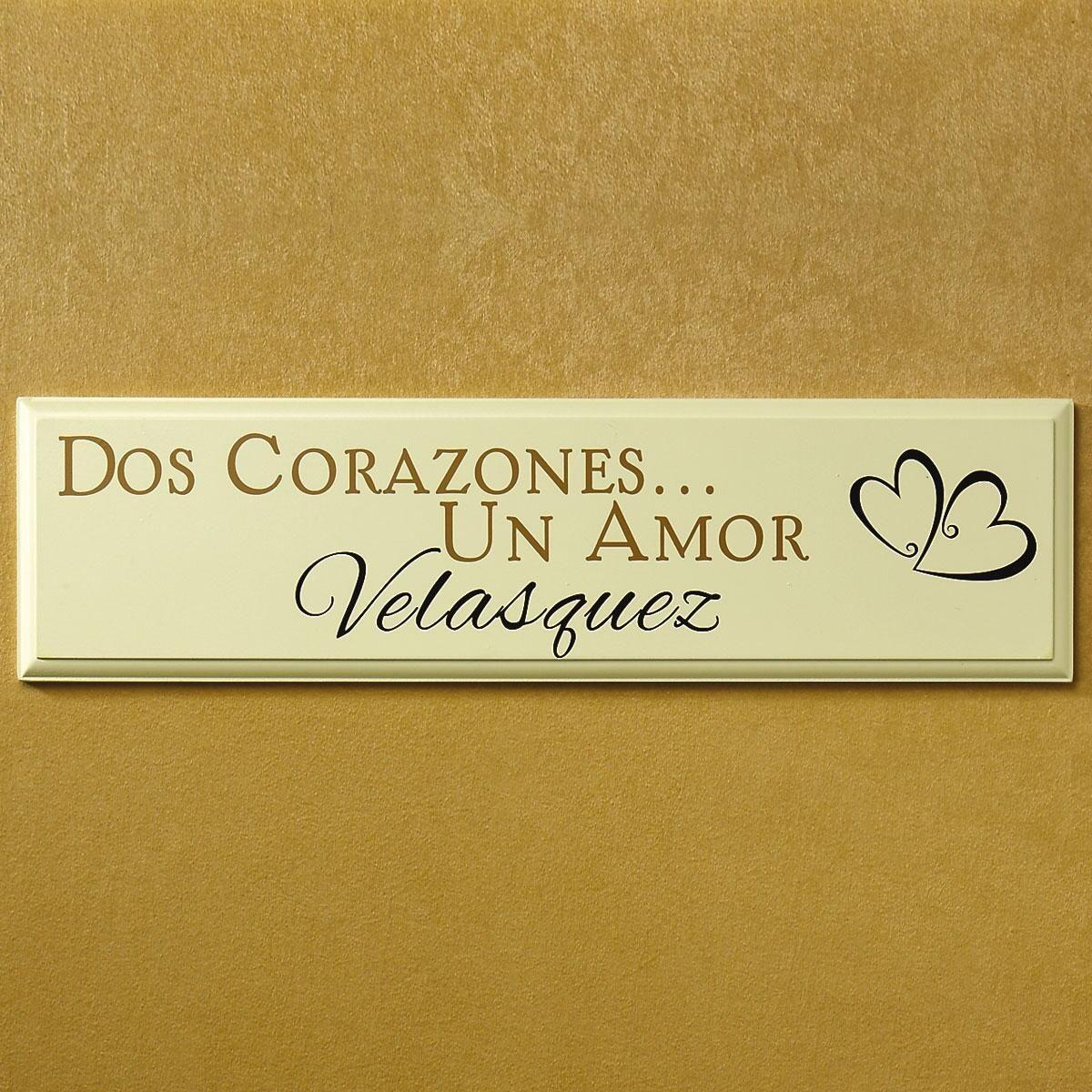 Dos Corazones Plaque