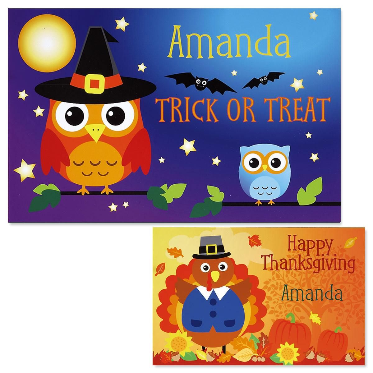 Owls Autumn Kids Placemats