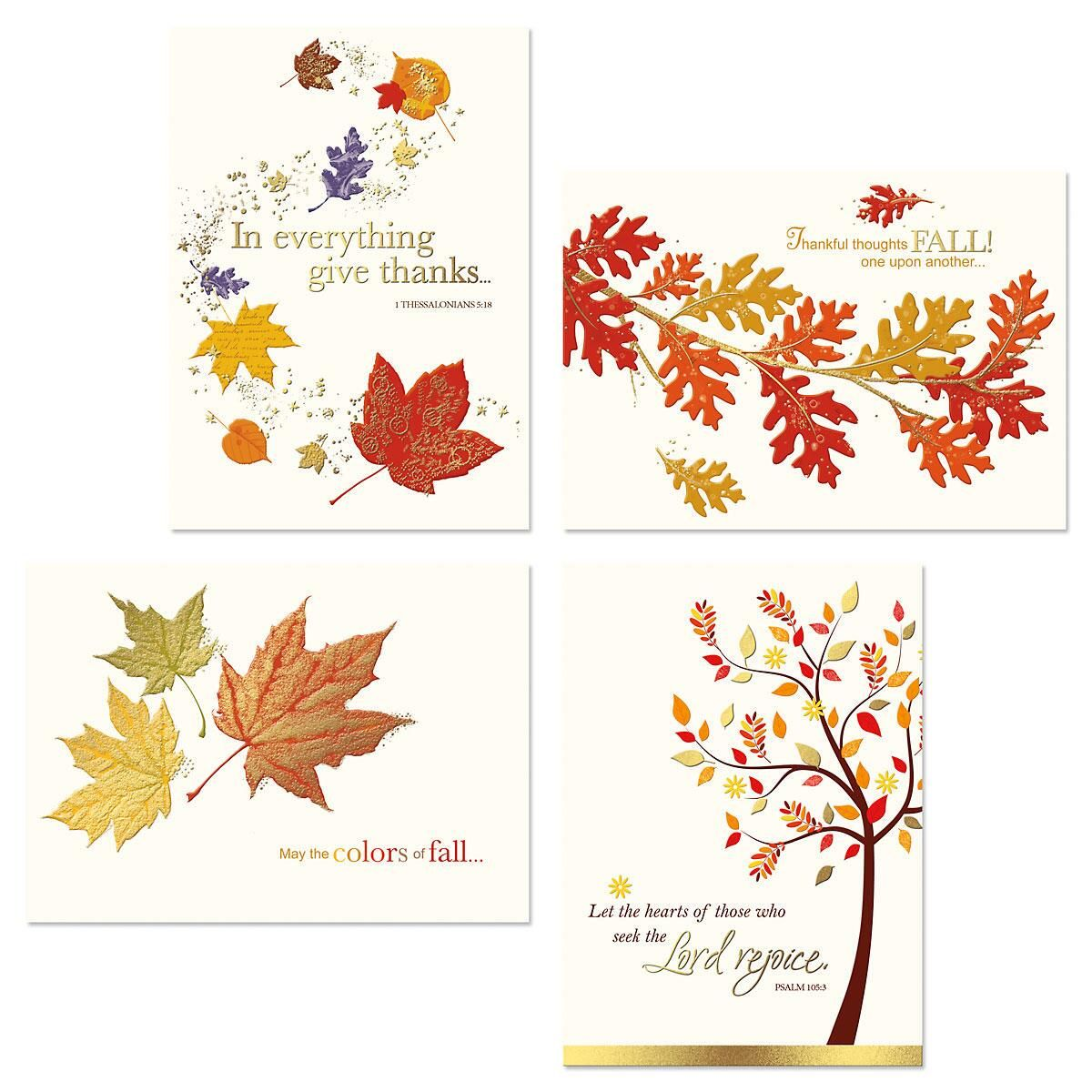 Deluxe Expression of Faith® Thanksgiving Cards