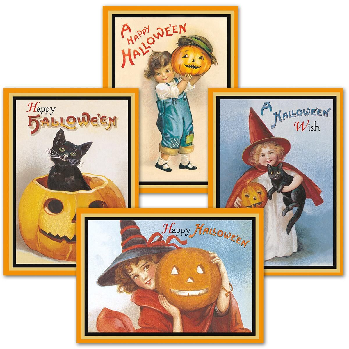 Victorian Halloween Cards