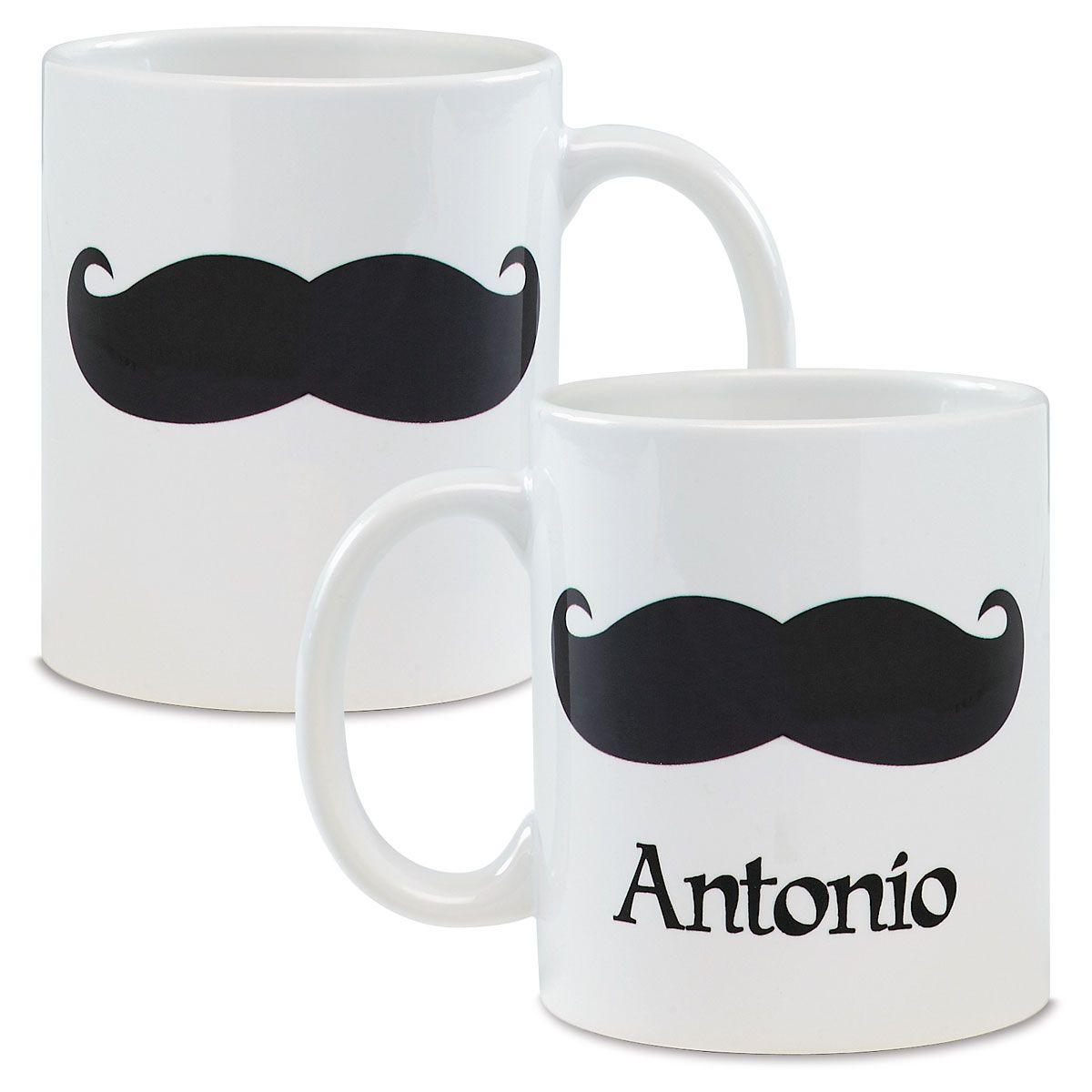 Mustache Personalized Mug