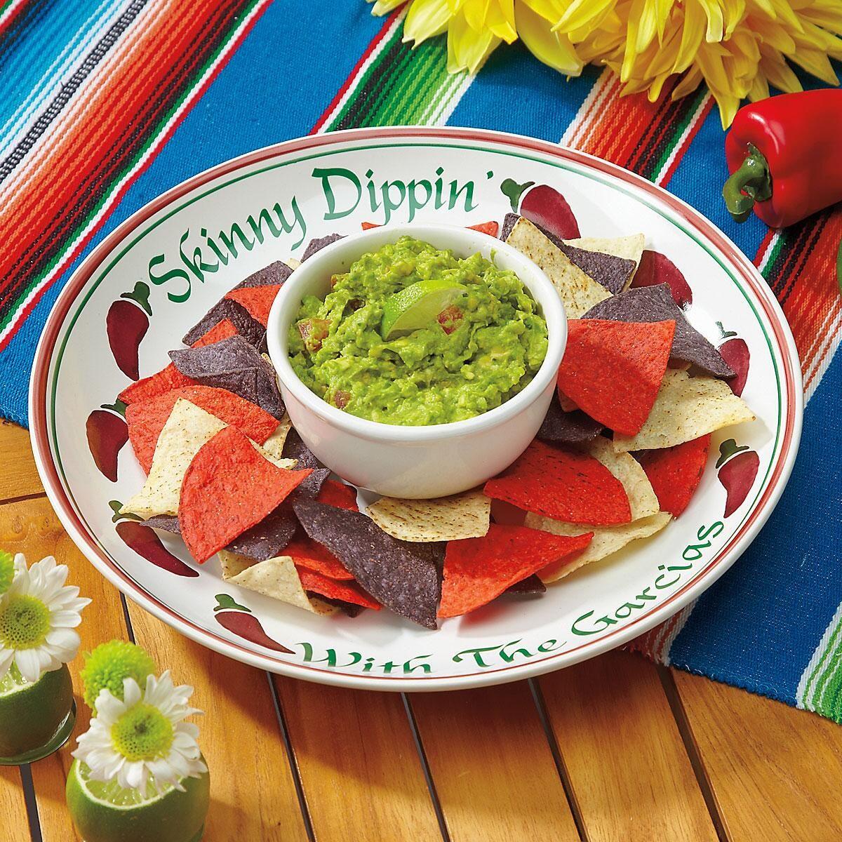 Chiles Rojos Chip & Dip Platter