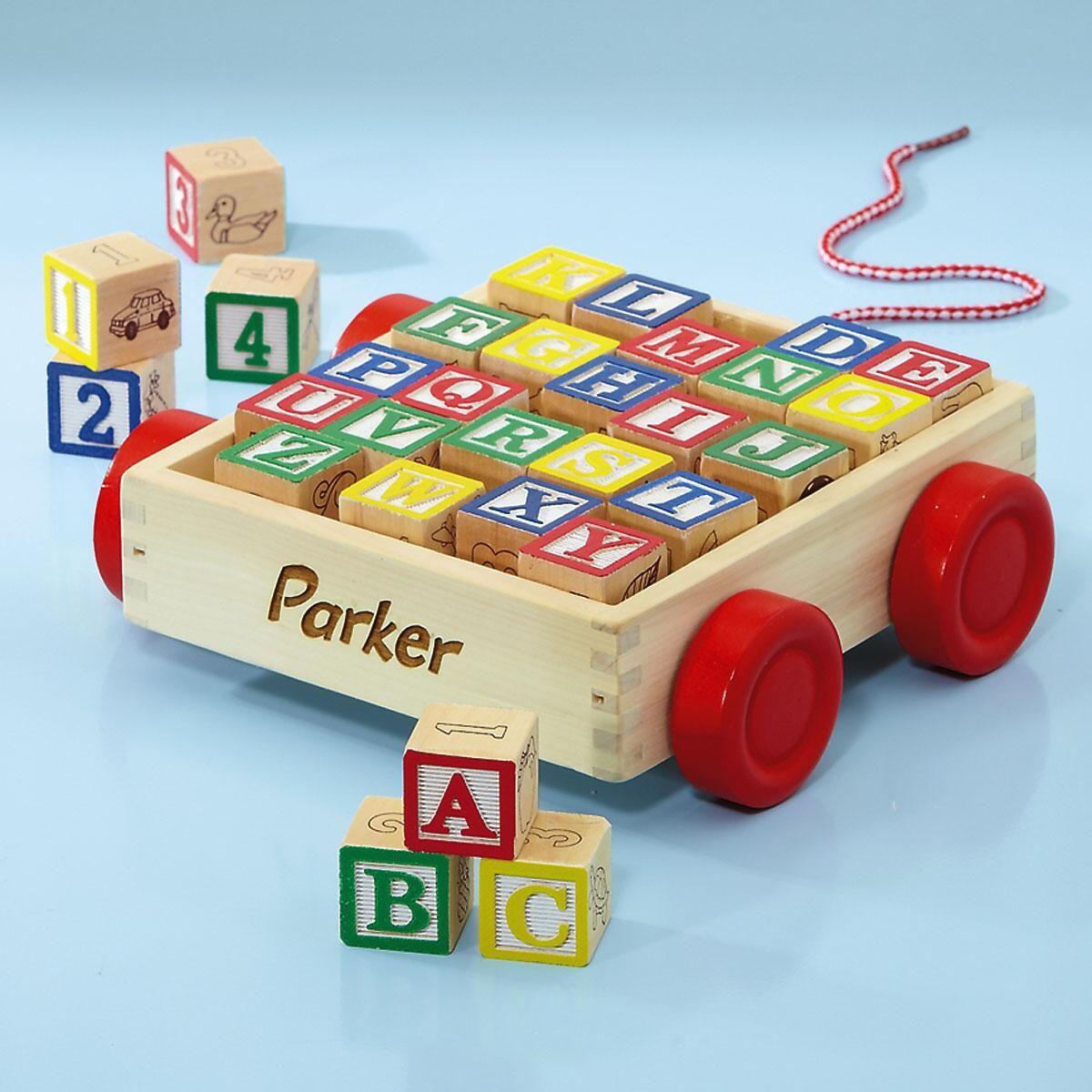 ABC Personalized Block Cart