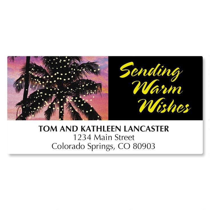 Warm Wishes Christmas Address Labels